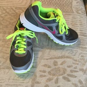 NEW Nike Revolution Athletic Shoes - Grey & Neon